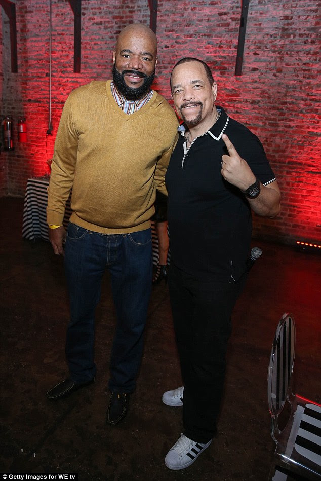 In good company: Actor, rapper and radio presenter Ed Lover also showed hi support for Ice-T and Coco