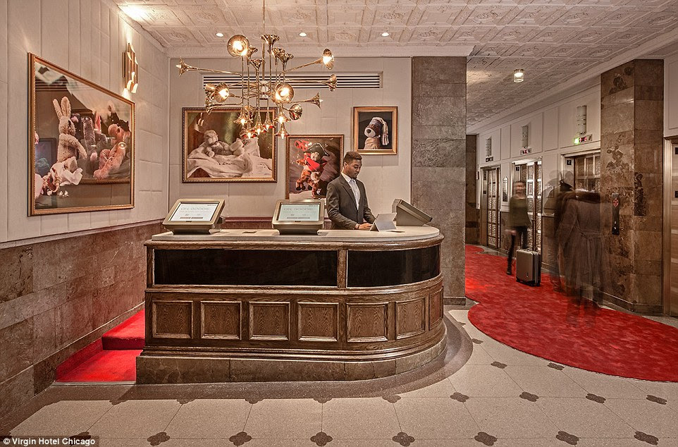The innovative hotel does not have a front check-in desk. Computer screens sitting atop a former cigar bar (the prior tenant was a 1920s bank) where you can access your reservation profile and check-in