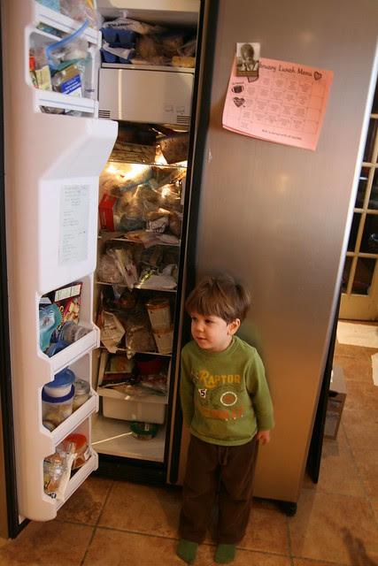 messy freezer