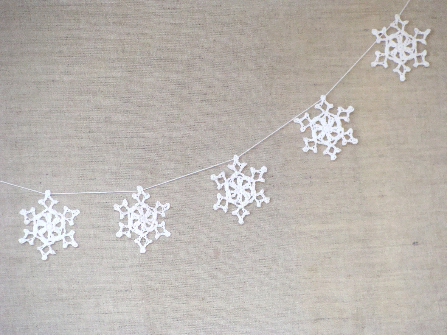 Wedding Garland - Christmas decoration - White Lace garland, wedding garland, wedding decor, christmas garland - zolayka