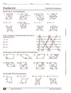32 Properties Of Special Parallelograms Worksheet - Free ...