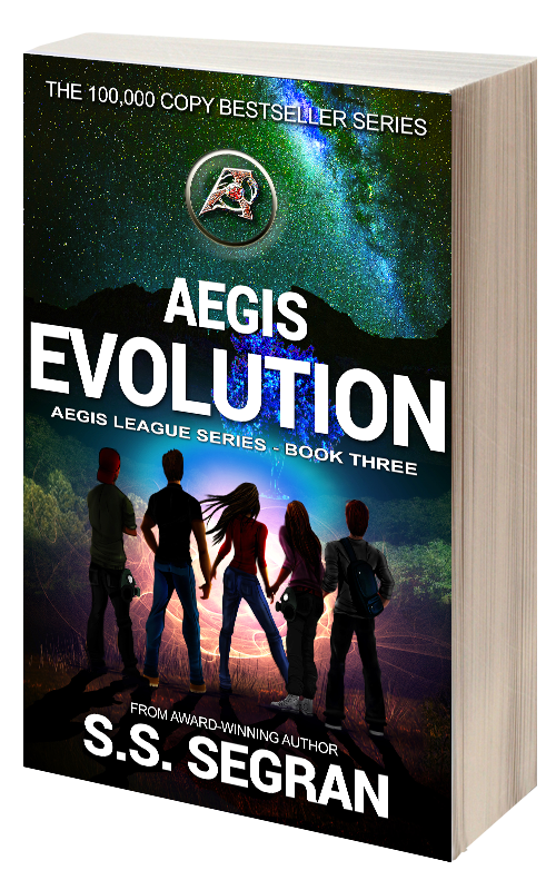 Book Cover for Aegis Evolution from sci fi fantasy series, Aegis League by S.S. Segran.