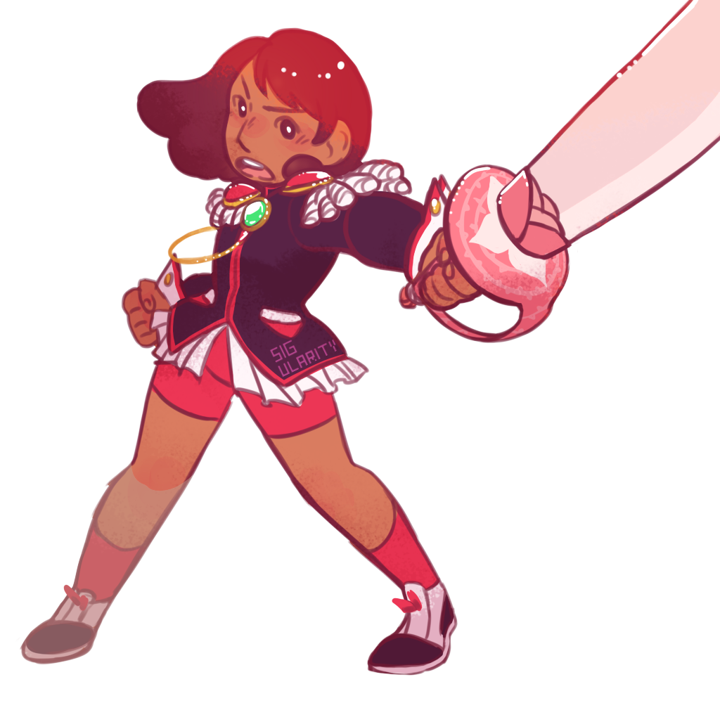 C'mon, I can't be the only one that thought that Connie's new hair was yet another reference to Utena.