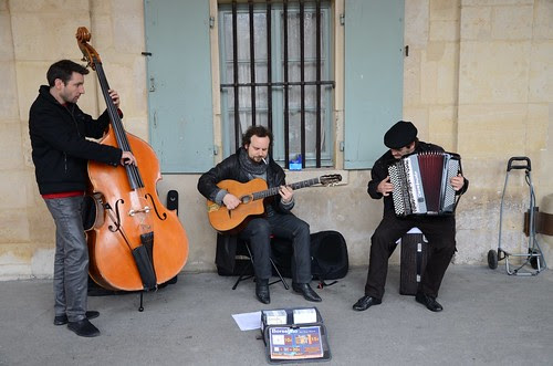 Trio on Saturday morning, Place des Vosges, Paris