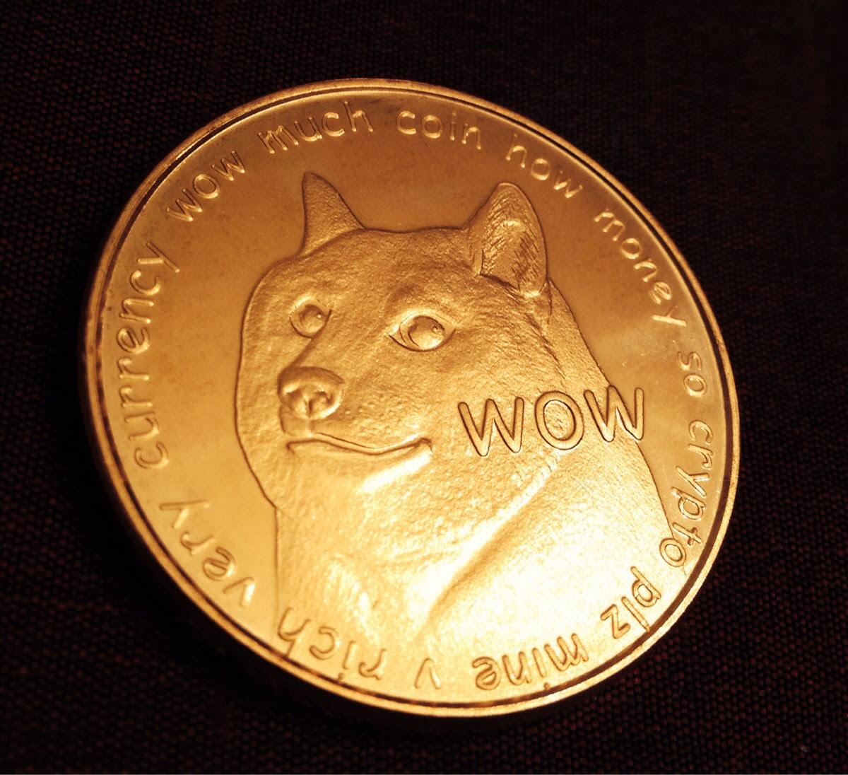 Dogecoin Gold - Novelty Gold Dogecoin Physical Copper Coin ...