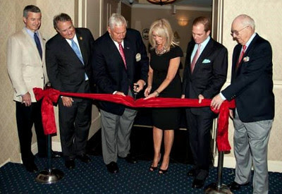 Cutting the ribbon to the PGA Gallery at the Radisson Martinique