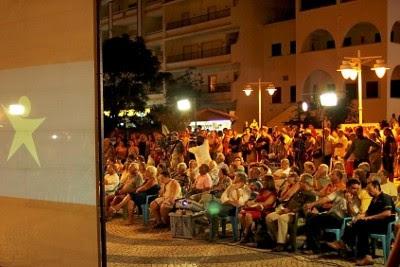 Comício do Bloco de Esquerda, que juntou centenas de pessoas em Monte Gordo e onde intervieram Cecília Honório, José Manuel Pureza e Francisco Louçã