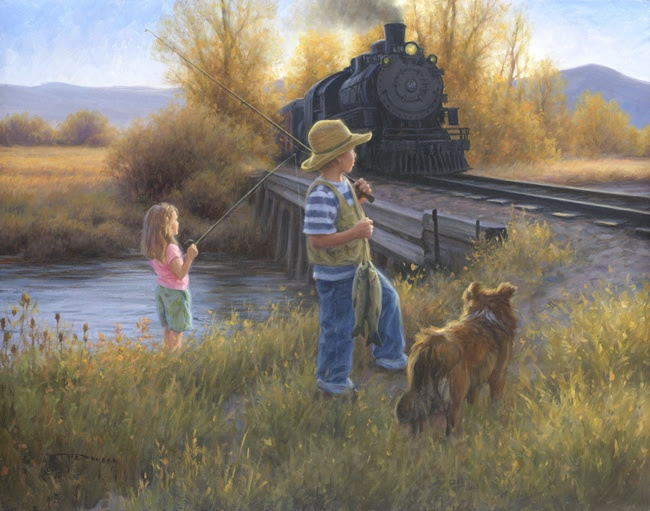 """Fishin' at the Bridge"" by Robert Duncan"