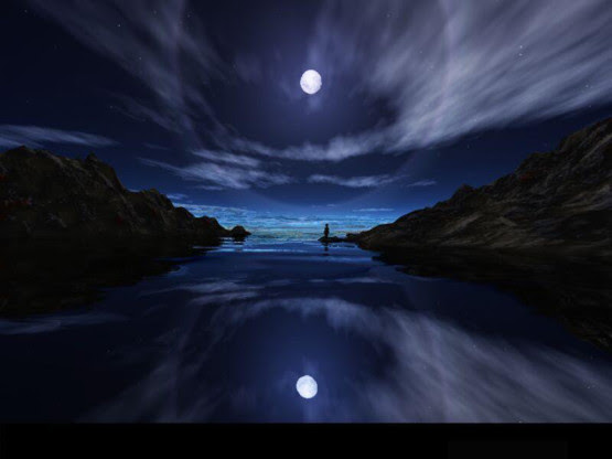 pemandangan bulan malam hari - Pemandanganoce