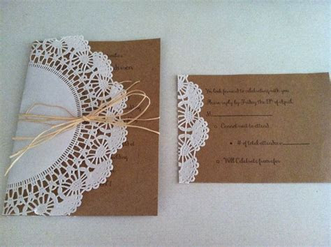 DIY wedding invites: 5x7 card stock for invite, 4x6 card