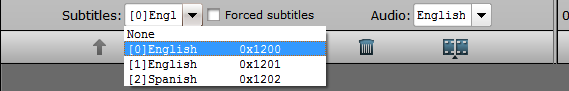 Select desired Blu-ray subtitles and audio tracks