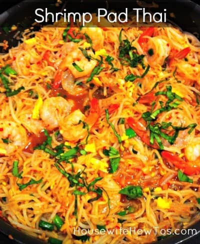 Shrimp Pad Thai Recipe from HousewifeHowTos.com