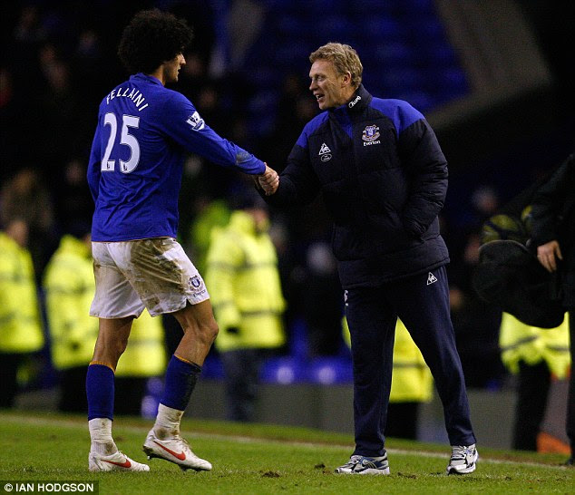 Reunion: Moyes knows Fellaini after managing the dominating Belgian midfielder at Everton