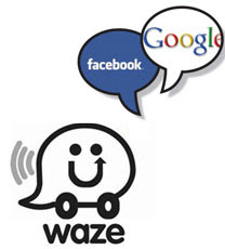 waze facebook google