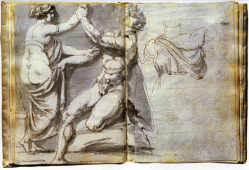Study of an Antique Relief by Johan Tobias Sergel c.1769