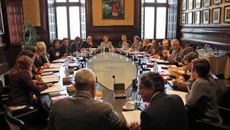 La Junta de Portaveus, durant la reunió d'aquest dimarts (ACN)