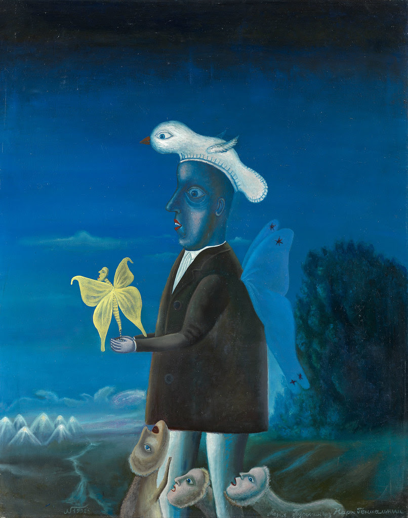 LEONID PURYGIN - Butterfly Man with a Bird Hat