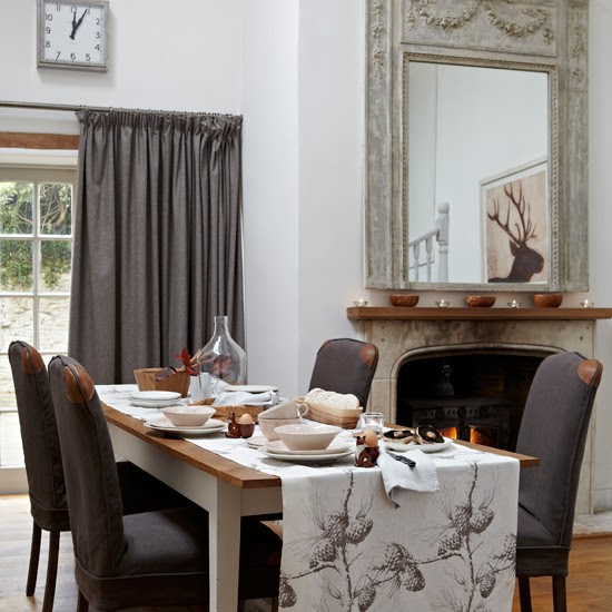 White and brown country dining room | housetohome.co.uk