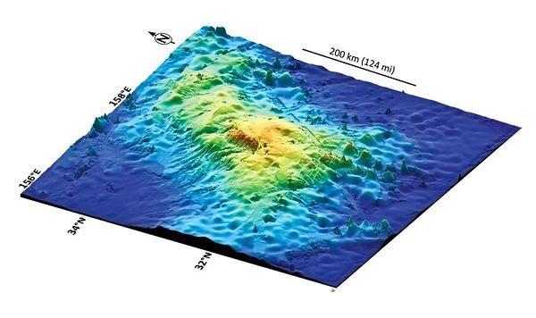 El mayor volcán de la Tierra está bajo el Pacífico
