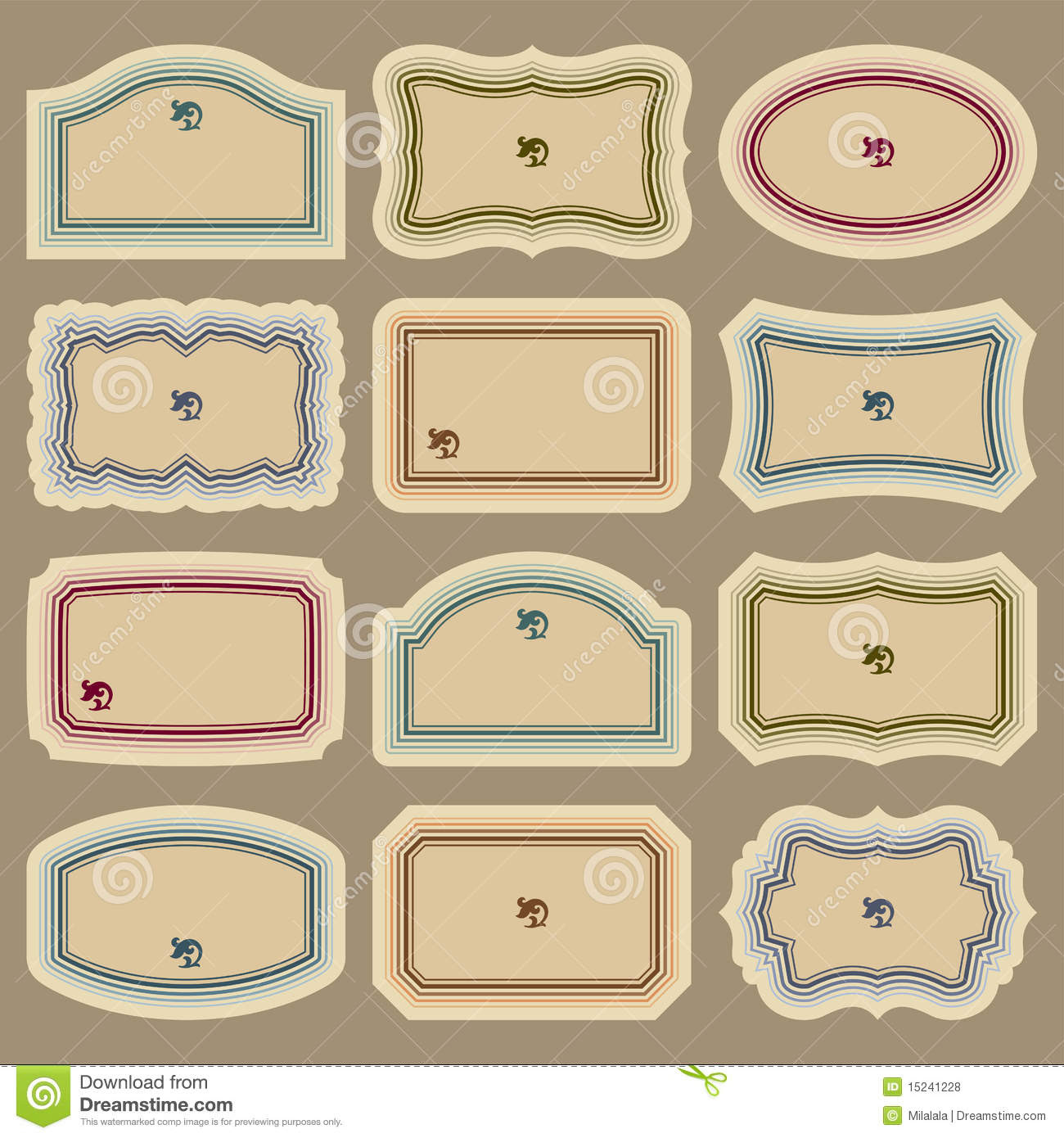 Blank Vintage Labels Set (vector) Royalty Free Stock Photos ...