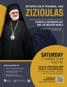 Lecture by Metropolitan John of Pergamon