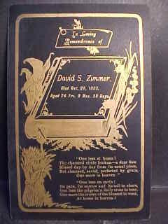 David S. Zimmer death