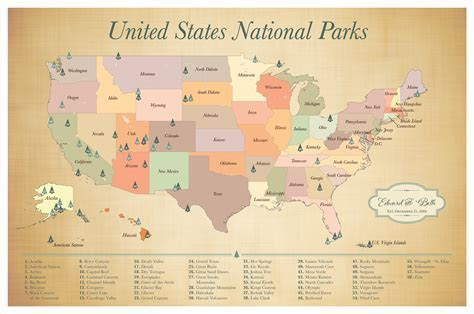 US National Parks Push Pin Map, Adventure Map, Push pin