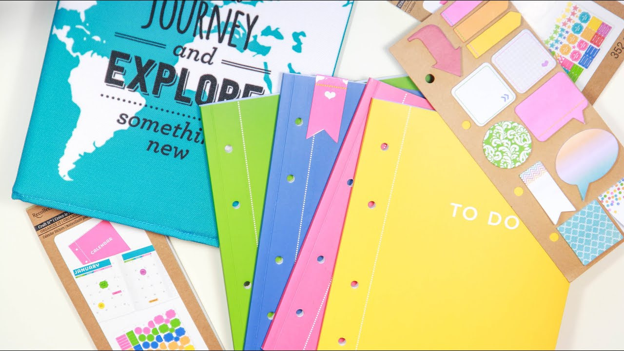 New! Recollections Planners & Organizers - YouTube