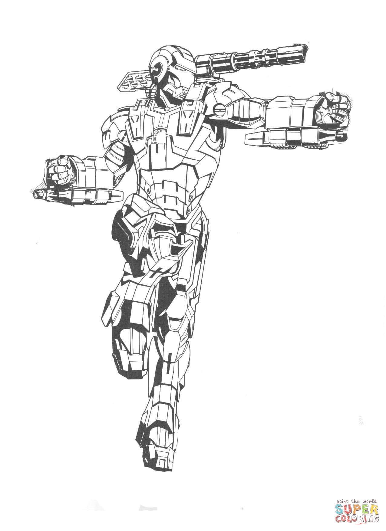 Hulkbuster Dibujo Para Colorear - páginas para colorear