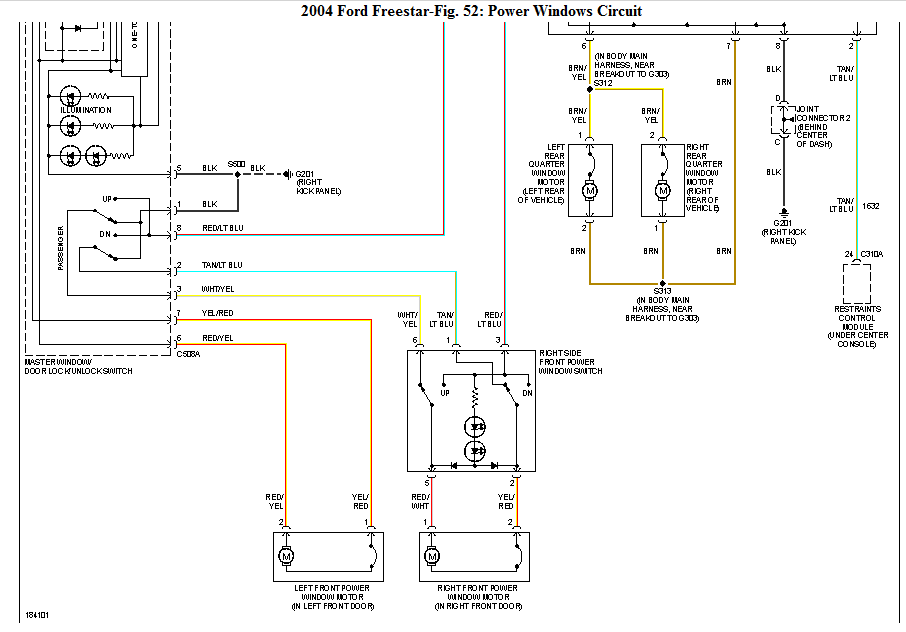 Wiring Diagram For Windstar Fuse Box