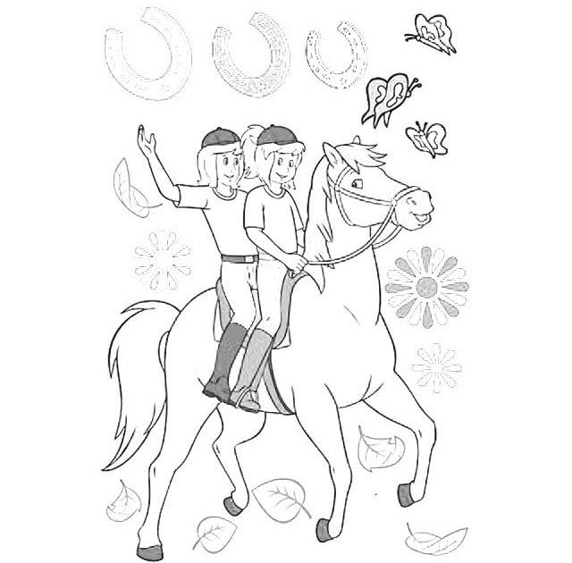 bibi und tina pferde ausmalbilder zum ausdrucken  malvorlagen