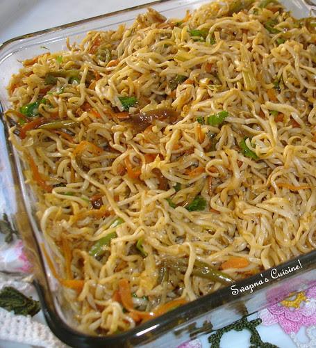 Szechuan Style Vegetable Hakka Noodles