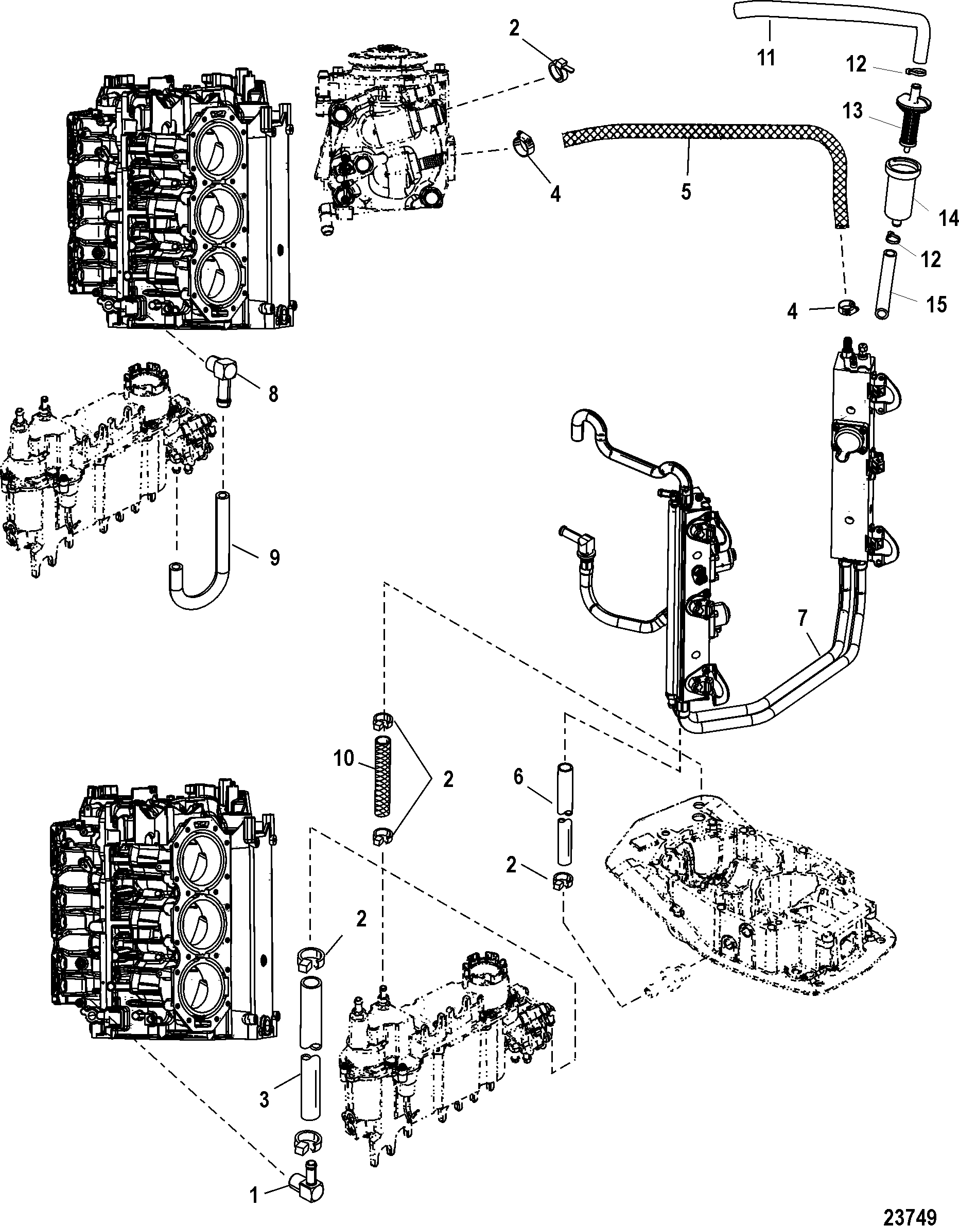 26 Optimax Fuel System Diagram