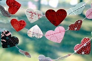 craftsiheart:  Heart Love - A garland