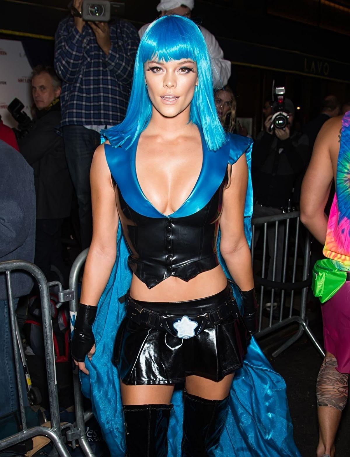 NINA AGDAL at Heidi Klum Halloween Party in New York 10/31/2015