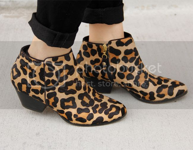 Topshop leopard animal print ankle boots