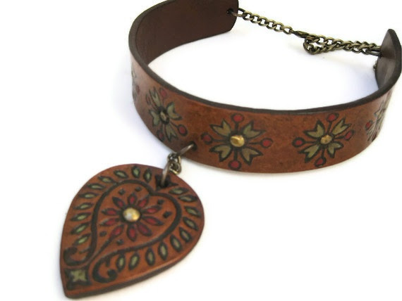 Leather Jewelry - Karen Kell Collection - Handmade Boho Luxury Leather Clog Shoes, Bags & Accessories