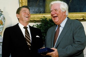 Reagan and Former House Speaker Tip O'Neill, D-Mass.