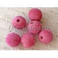 Margele catifea sfere 16mm roz v 3b