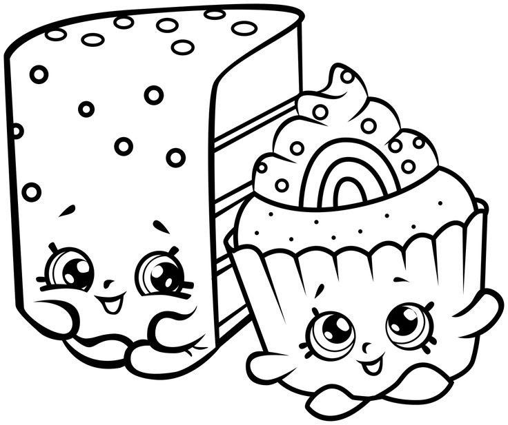 Shopkins Cookies Exclusive Colouring Page Season 6 - Coloring And Drawing