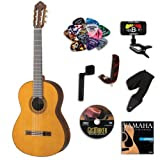 Yamaha CG182C Classical Guitar BUNDLE w/ Legacy Accessory Kit (Tuner, DVD, Picks, Capo and More)