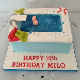 Diving/swimming pool cake