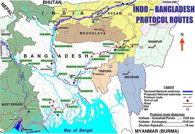 india_bangladesh protocol route