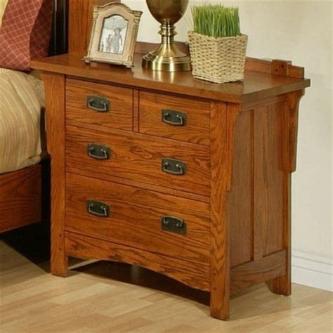 ayca heartland manor solid oak  drawer nightstand
