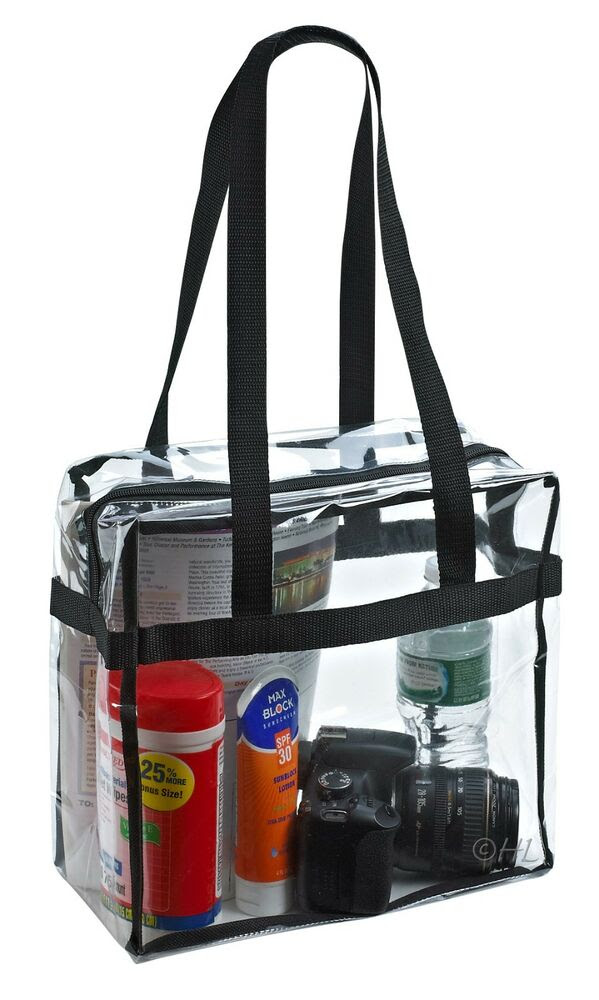 Clear Tote Bag NFL Stadium Approved 12 X 12 X 6  eBay
