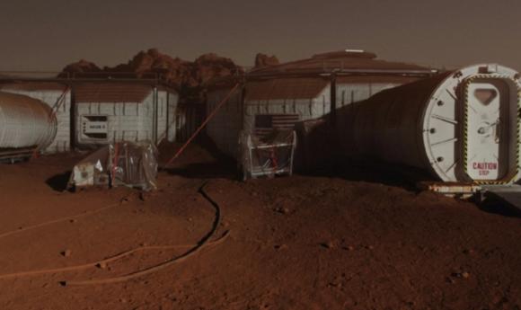 Exterior del hábitat de The Martian (20th Century Fox).