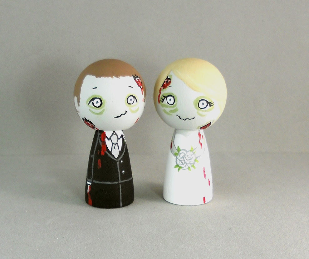 Wedding Cake Toppers Zombie Wedding Cake Toppers