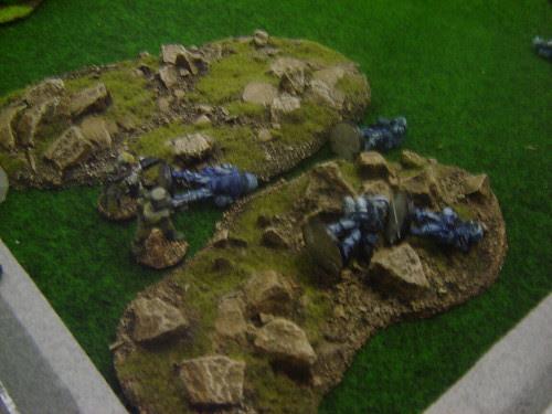 Team in rubble overrun