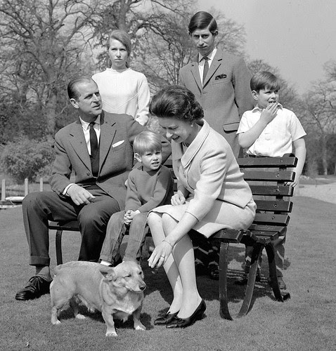 The Royal Family in the gardens of Frogmore House in 1968