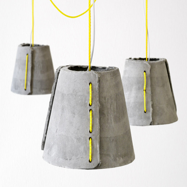 Concrete outdoor pendant lamp by Rainer Mutsch » Retail Design Blog